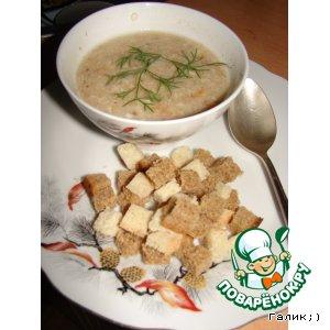 Сливочный суп-пюре из грибов и цветной капусты