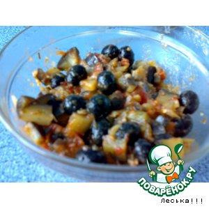 Закуска из баклажан с маслинами