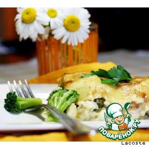 Кабачки с брокколи, творогом и сыром
