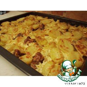 Картошечка с мяском в духовке