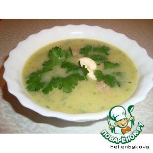 Суп-пюре из кабачков с фрикадельками