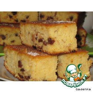 Пирог кукурузно-картофельный с апельсиновым сиропом