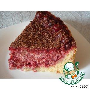 Торт-пирог с вишней