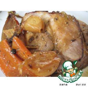 Запеченное мясо в горчичном соусе