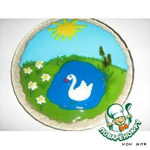 """Заливное из овощей """"Белый лебедь"""""""