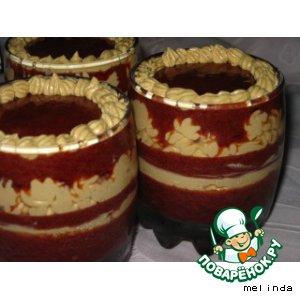 Десерт сливовый с творогом