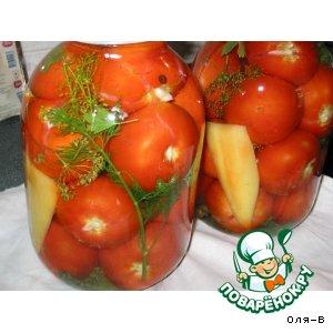 Шпигованные томаты с лимонной кислотой