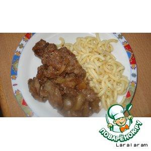 Куриная печень в карамельном соусе