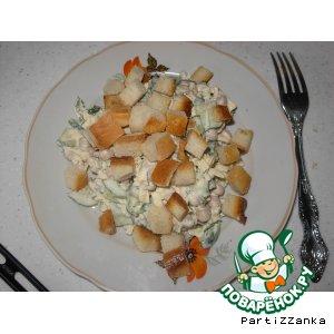 Салатик с фасолью
