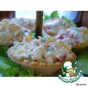 Тарталетки с плавленым сыром и паприкой