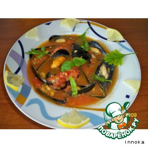 Итальянский суп c мидиями (zuppa di cozze)