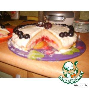 """Фруктовый торт """"Проба пера"""""""