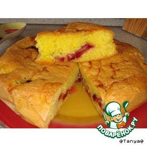 Простейший пирог со сливами