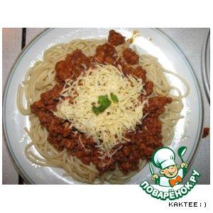 Спагетти с фаршем