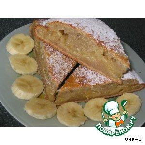 """""""Мокрый"""" банановый пирог с лимонным центром"""