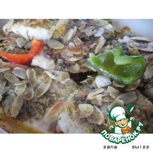 Рыба в масляном соусе с миндальным орехом