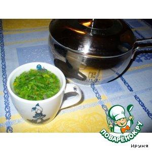 Куриный бульон с зеленью