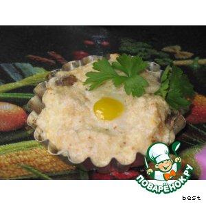 Яйца-кокотт с шампиньонами