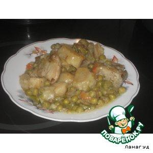 Свинина на хрящах с овощами