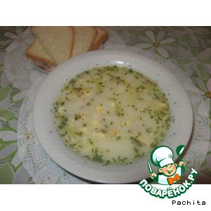 Сырный суп с сырной лапшой