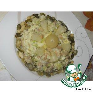 Салат рыбно-авокадный