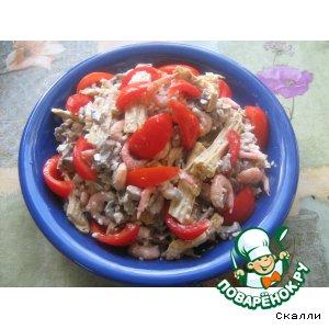 Салат из спаржи