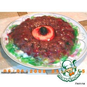 Рисовый десерт с вишней