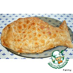 """Закусочный пирог """"Рыба в рыбе"""""""