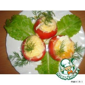 Завтрак из помидоров с яйцом