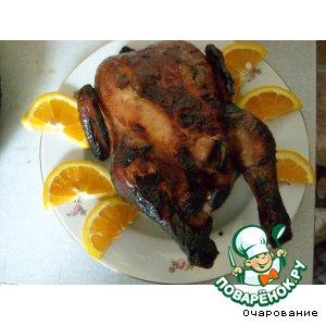 Курица, запеченная целиком