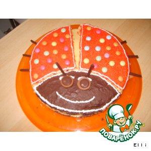 """Торт """"Божья коровка"""""""