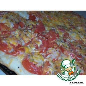 Фокачча с помидорами и сыром