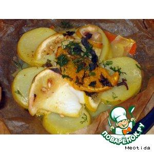 Рыба с овощам в конвертиках