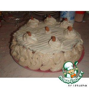 Сливочно-кофейный торт