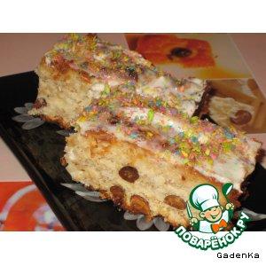 Пирог яблочно-кокосовый с цельными орехами