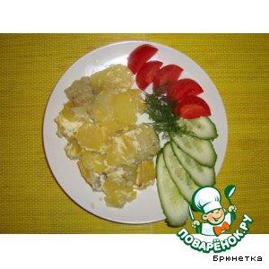 Рыбка, запеченная с картошкой