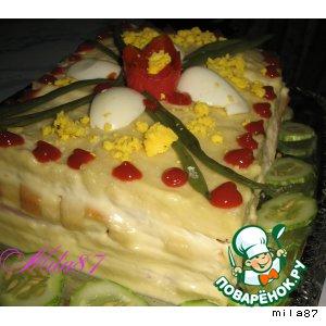 """Торт закусочный """"Завтрак в постели... """""""