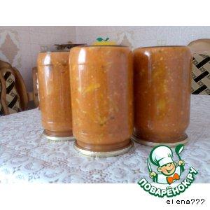 Цветная капуста в жeлтом кетчупе с майонезом