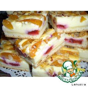 Абрикосово-сливовый пирог