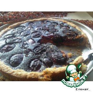 Маково-сливовый пирог