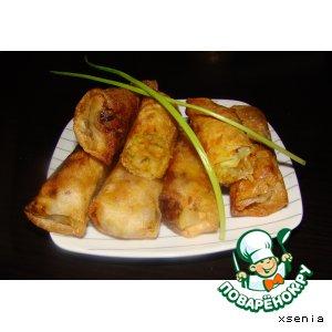 """Пирожки с капустой """"по-китайски"""" в рисовом листе"""