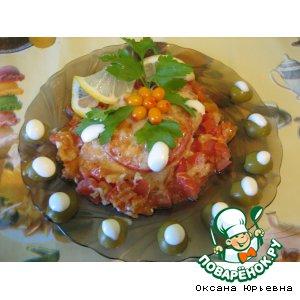 Рыба с помидорами и сыром