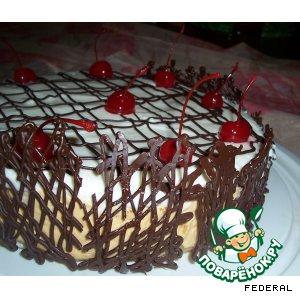 Торт творожный с грушами