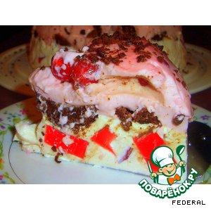 Желейный тортик с  брауниз