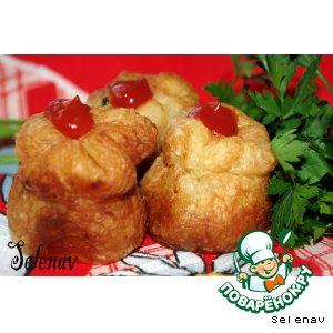 """Пирожки с ветчиной и сыром """"Розанчики"""""""