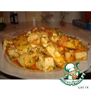 Тофу (тиби) в помидорках