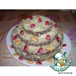 "Трехъярусный торт ""Осенний марафон"""