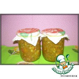 Салат из зелeных помидоров