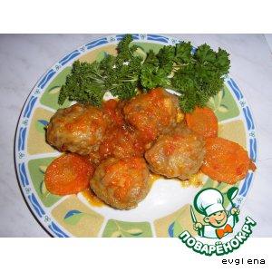 Мясные биточки с овощами