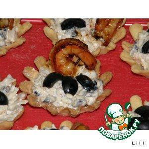 """Сырные тарталетки """"Морской конек"""""""